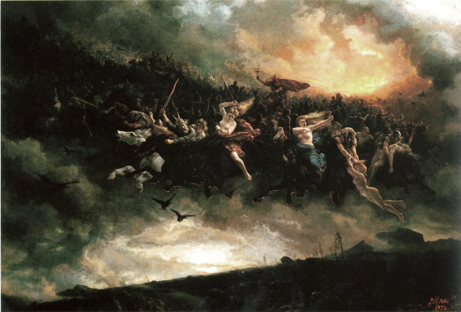 The Wild Hunt - Peter Nicolai Arbo (1872)